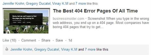 Business Insider's Top Picks for All-Time Best 404 pages.